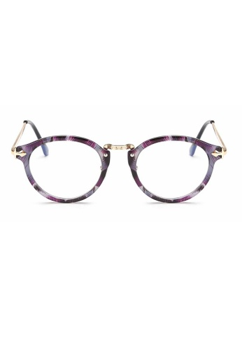Kyfer's Eyewear & Essentials purple and gold Oversize Round Vintage Eyewear II KY376AC93JEKSG_1