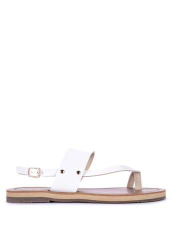 Penshoppe white Synthetic Leather Sandals 20A46SHC90004CGS_1