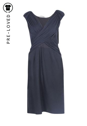 Alberta Ferretti black Pre-Loved alberta ferretti Draped Top Dress with Pencil Skirt 61ABCAA1CF9BB6GS_1