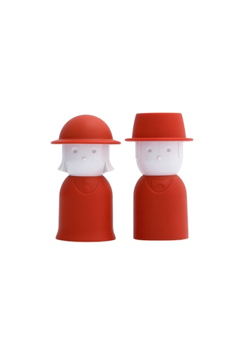 Qualy Qualy Mr. Pepper & Mrs. Salt Shaker Set (Red) 59835HLB612EB9GS_1