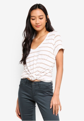 Cotton On multi Karly Short Sleeve V Neck Top DC999AA9A8AF60GS_1