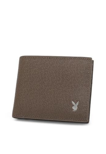 Playboy brown Rfid Blocking Wallet 5AC26AC85CFC98GS_1