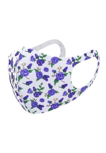 Glamorbit multi White Floral Print Reusable Washable Mask 95368ESF86D03FGS_1
