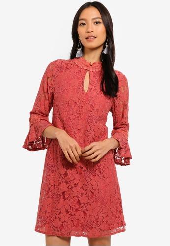 Little Mistress red Lace Shift Dress 86FC5AAC62A933GS_1