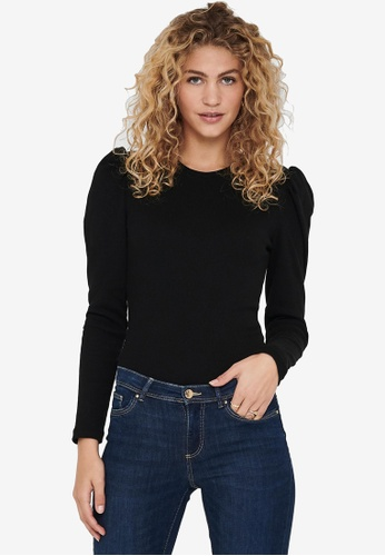 JACQUELINE DE YONG black Ceren Long Sleeves Puff Sleeve Top 0FA7CAAF56C70AGS_1