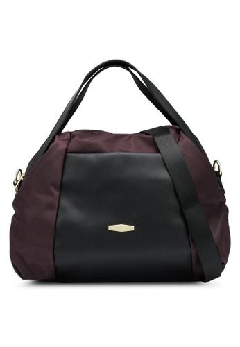 Mel&Co brown Nylon Satchel Top Handle Bag D5CFDAC1AEF453GS_1