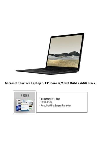 "Microsoft black Microsoft Surface Laptop 3 13"" Core i7/16GB RAM - 256GB Black - VEF-00037 + Bitdefender 1 Year Internet Security + Microsoft 365 Family (ESD) + Amazingthing Screen Protector 28250HL48B8358GS_1"