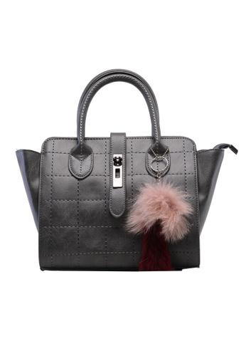 Vince grey European Designed Luxury Vegan Leather Tote ( Grey ) VI456AC74IZHMY_1