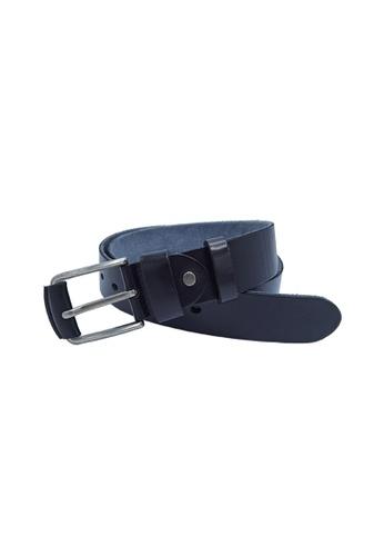 EXTREME black Extreme Full Grain Men's Leather Belt (40mm) 38EB9ACC25DA6FGS_1