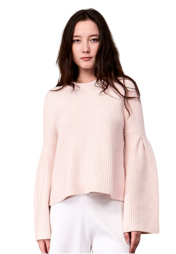 22 Factor pink Hestia Flared Sleeve Cropped Top 94142AA19CB9C7GS_1