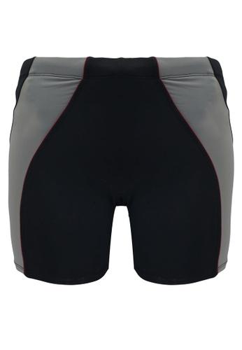 Funfit 黑色 and 灰色 雙色四角泳褲 4F196AADAF5367GS_1