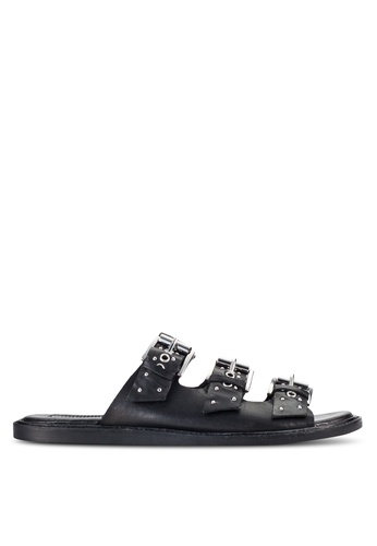 TOPSHOP black Famous Studded Sandals TO412SH46UXPMY_1