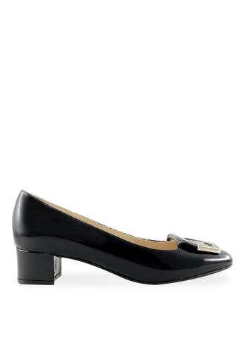 Footspot black FOOTSPOT – Square Toe Block Heel Shoes With Buckle FO296SH2UVPMHK_1