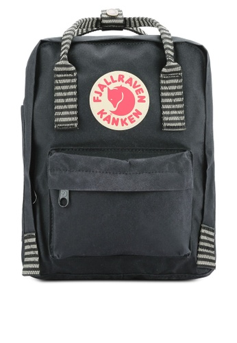 Fjallraven Kanken black Black - Striped Kanken Mini Backpack FJ382AC0RH1NMY_1