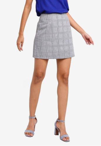 ZALORA BASICS multi Basic Mini Checked Skirt C7B41AA74C80CFGS_1