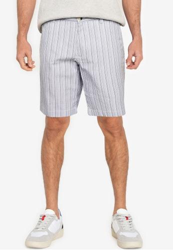 Ben Sherman blue Seersucker Co-Ord Shorts E55CDAA20C6C92GS_1