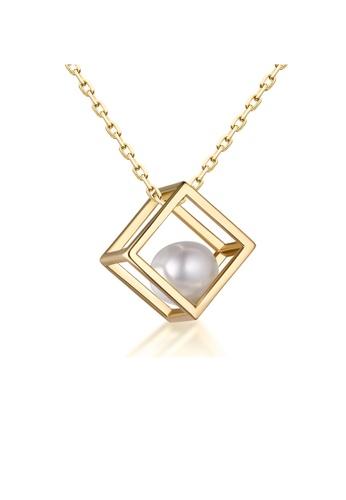 SUNSET 金色 Premium 925 Sliver Pearl Necklace B6AFFACA5C1773GS_1