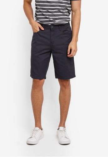 Penshoppe grey Tapered Fit 5-Pocket Shorts BA037AA3B78CADGS_1