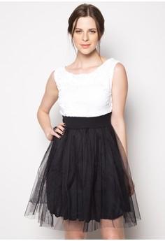 Liza Sequin Off Shoulder Midi Dress