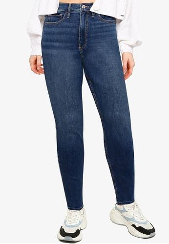 Hollister blue Curvy Ultra High Rise Skinny Jeans F0F69AA5B36222GS_1