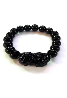 Feng Shui Onyx Money Catcher Pi Yao Bracelet