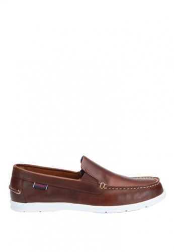 Sebago brown Litesides Slip On Boat Shoe SE328SH32IAPPH_1