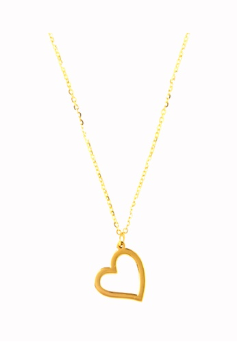 TOMEI gold Heart Minimalist Necklace - Tomei Yellow Gold 999 (24K) (BTN-5D-021A) 09AAEAC9BCBD6FGS_1