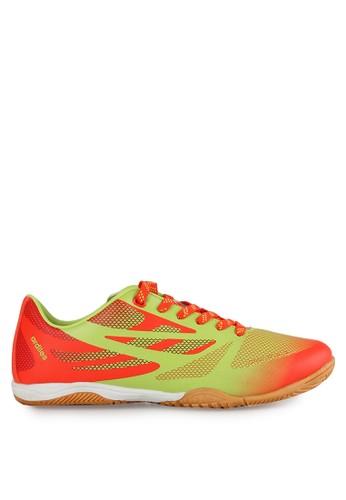 Ardiles orange and green Men 818 Futsal Shoes AR073SH0UM2JID_1