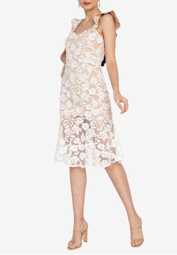 ZALORA OCCASION white Crochet Lace Sweetheart Neckline Dress F4D0DAAE9E2ACBGS_1