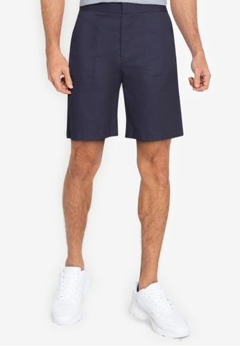 ZALORA BASICS navy Patch Pocket Shorts 0777BAAD4B5C49GS_1