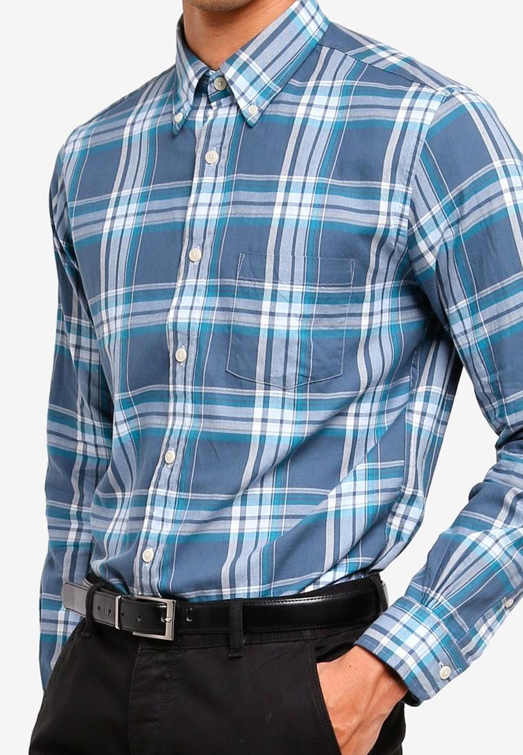 Blue Summer Fleece Shirt Brooks Twill Red Brothers Open S0RnxA