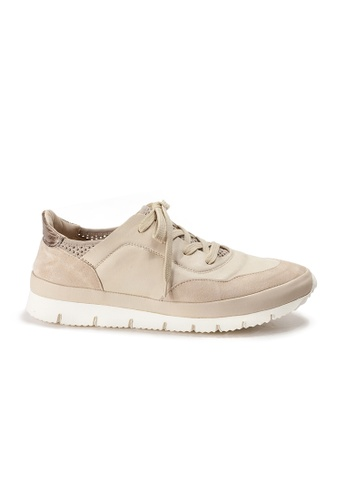 Shu Talk beige XSA Comfortable Easy Wear Nappa Leather Sneakers 86CF2SHA9951FBGS_1