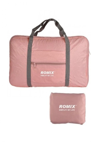 Fashion by Latest Gadget pink Romix Rh43 Foldable Water Resistant Nylon Travel Luggage Bag E2698AC9724BF5GS_1