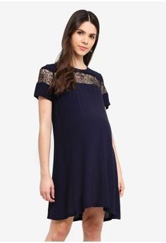 249ede3ee18b9 Envie De Fraise navy Maternity Triomphe Dress FCFA4AA9E8656EGS_1