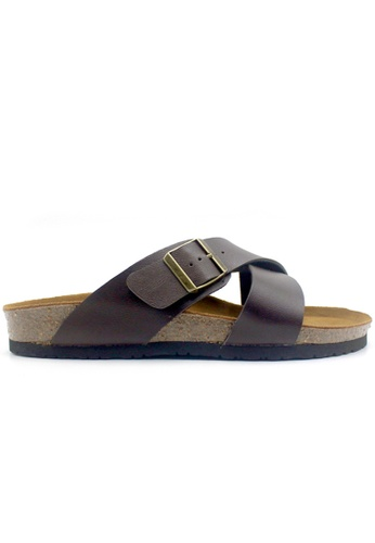 SoleSimple 褐色 Frankfurt - 棕褐色 百搭/搭帶 軟木涼鞋 C748ASHC26AB89GS_1