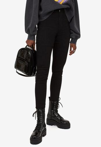 H&M black Super Skinny High Jeans CE319AAB05FC3AGS_1