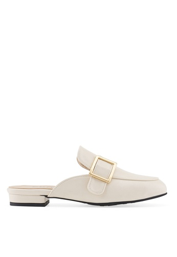 SPUR white RAME BELTED FLATS CDB8ASH0CCD832GS_1