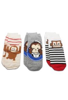 Monkey socks (3 pieces set)