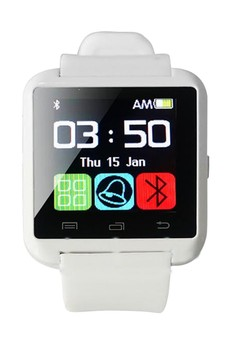 Unisex Rubber Strap Bluetooth Touch Screen Smart Watch