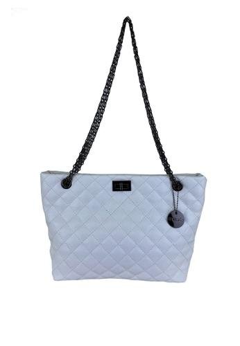 Mel&Co white Faux Leather Chain Shoulder Bag 7B8CCAC1FE4114GS_1