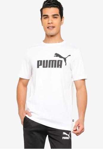 PUMA white Essentials Logo Men's Tee 6FBBCAAE2D0072GS_1