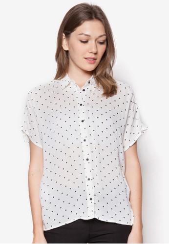 印花短袖zalora 衣服評價襯衫, 服飾, 服飾