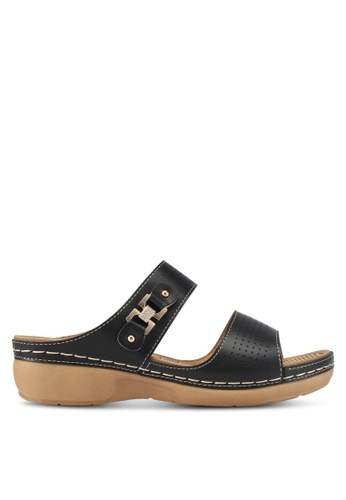 Spiffy black Feather Weight Comfort Series Slip-on Wedges 5404BSH945A6FDGS_1