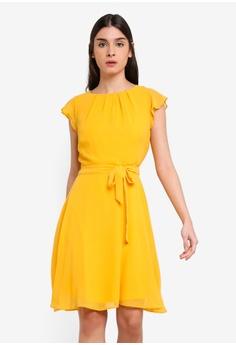 479b516538 Dorothy Perkins yellow Ochre Angel Sleeve Dress 7AC7FAA02718DFGS 1