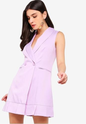 ZALORA purple Blazer Dress E426DAA6545D59GS_1