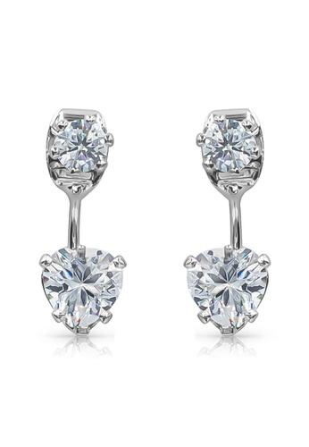 SO SEOUL silver Front To Back Heart Diamond Simulant Earrings 3EA67ACAD193E9GS_1
