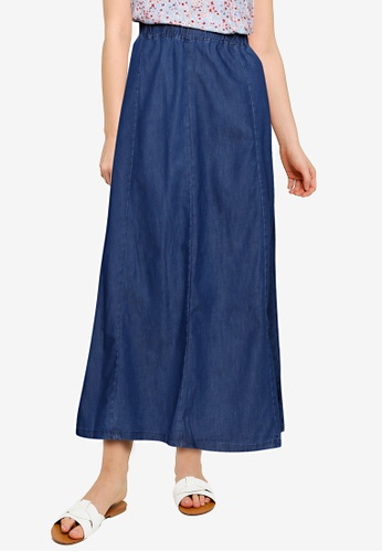 LC Waikiki blue Elastic Waist Jean Skirt 12702AA564863FGS_1