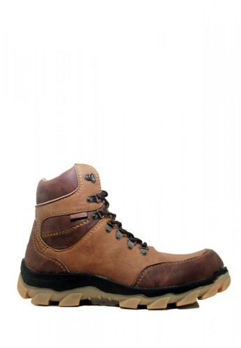Cut Engineer brown Cut Engineer Taktical High Safety Boots Iron Leather Brown 700F8SH407A5C1GS_1