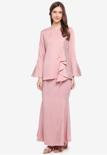 peace collections pink Lace Patch Baju Kurung Modern B12EEAAB8815C3GS_1