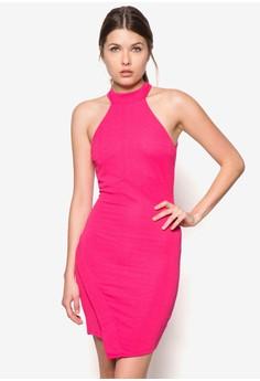Pink Betty Asymmetric Hem Dress